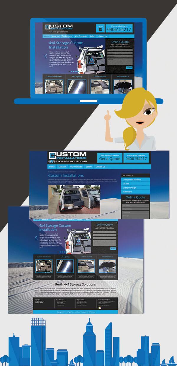 Custom Website for Custom Storage